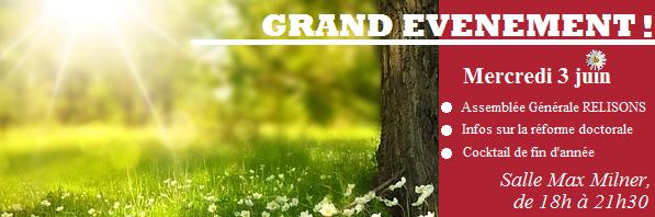 Grand événement 3 juin: AG et réforme doctorale
